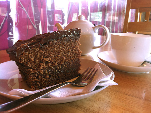 Chocolate Cake at Muddy Boots Cafe